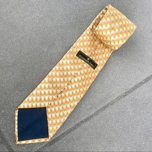 Ermenegildo Zegna Accessories - Ermenegildo ZENGA gold SILK TIE silver metallic